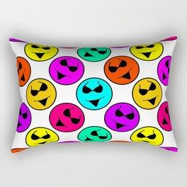 Smiley Bikini Bright Neon Smiles on White Rectangular Pillow