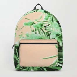 Green chestnut tree impressions Backpack
