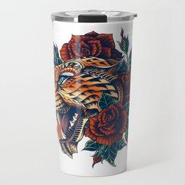 Ornate Leopard (Color Version) Travel Mug