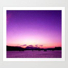 Sunset in Poros Art Print
