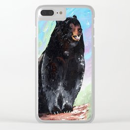 Animal - Courage of a Bear - by LiliFlore Clear iPhone Case