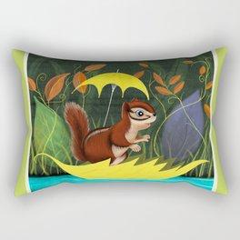 Chipmunk's Amazing Rainy Day Adventure Rectangular Pillow