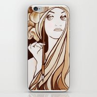 mucha iPhone & iPod Skins featuring My Mucha by Little Bunny Sunshine