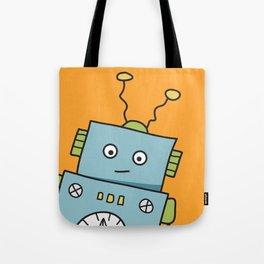 Friendly Blue Robot Tote Bag