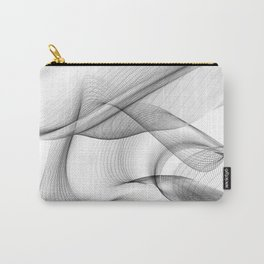 Minimal black and white smoky flux in motion #abstractart #decor Carry-All Pouch