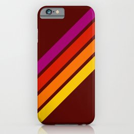 Bormo - Pink Red Orange Yellow Stripes iPhone Case