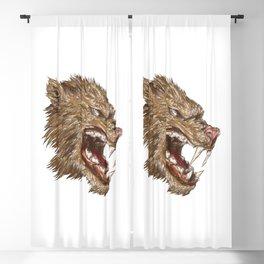 Head with sharp teeth Blackout Curtain