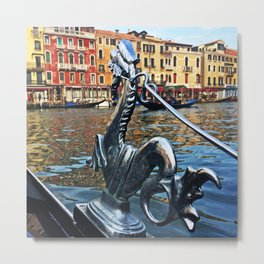 Gondola Dragon Metal Print