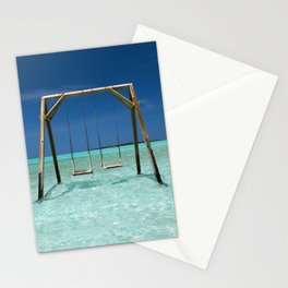 Swinging in paradise Stationery Cards