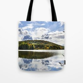 Fall Reflection Landscape Tote Bag