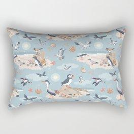 Coastal Birds Pattern Rectangular Pillow