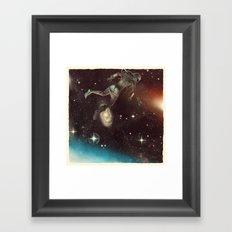 Bodies in Space: Cyanosis Framed Art Print