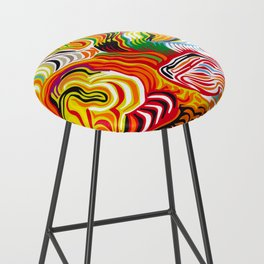 colored flow Bar Stool