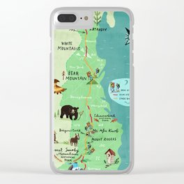 Appalachian Trail Hiking Map Clear iPhone Case