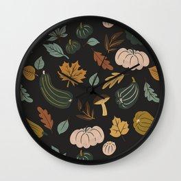 Dark colorful autumnal 3 Wall Clock