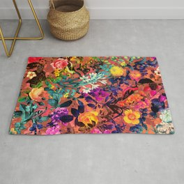 Floral and Birds II Rug