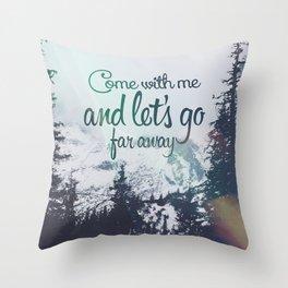 Far away (snow) Throw Pillow