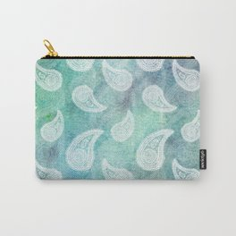 The Deep Blue Paisley Carry-All Pouch
