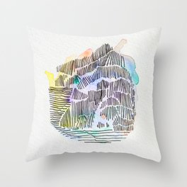 Waterlines Throw Pillow