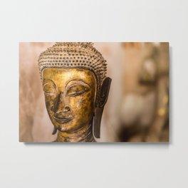Wat Si Saket Buddhas IX, Vientiane, Laos Metal Print