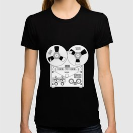 Reel To Reel Line Drawing T-shirt