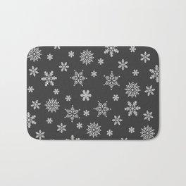 Snow Flurries-Solid Charcoal Bath Mat