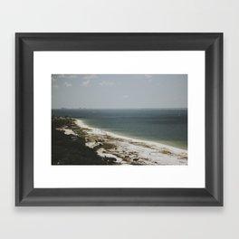 on the coast of florida Framed Art Print