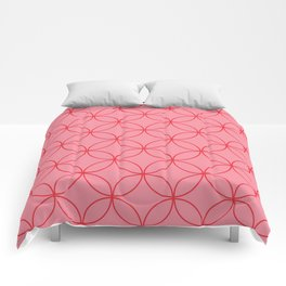 Moorish Circles - Pink & Red Comforters