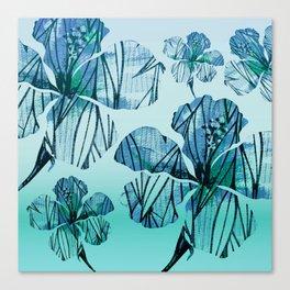 Vintage Hawaiian Floral Minimalism Canvas Print