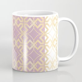 Gold & Lilac Celtic Fretwork Coffee Mug