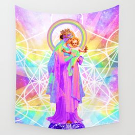 Our Lady of Sacred Geometry Wall Tapestry