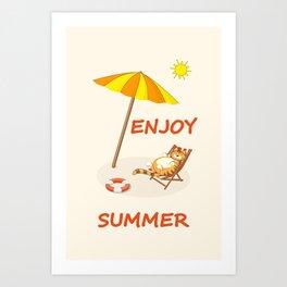 enjoy sunny summer Art Print