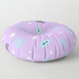 Pastel Goth Occult Pattern Floor Pillow