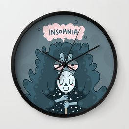Queen of All-Nighter Wall Clock