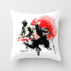 Samurai Duel Throw Pillow
