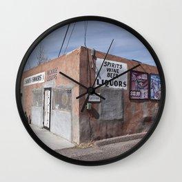 Liquor Store Española Wall Clock