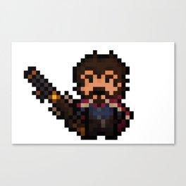 Graves, The Pixel Gunslinger Canvas Print