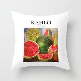 Kahlo - Viva la Vida Throw Pillow