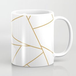 Geometric Gold Hexagon Pattern Coffee Mug