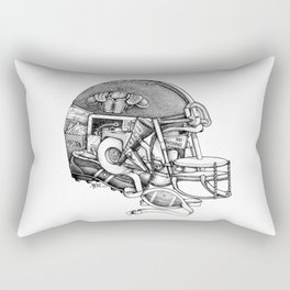 Football Helmet Rectangular Pillow