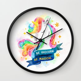 Be Unicorn Wall Clock