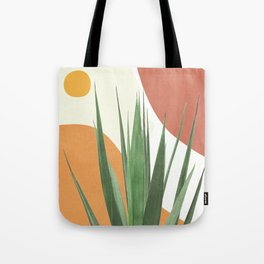 Abstract Agave Plant Tote Bag