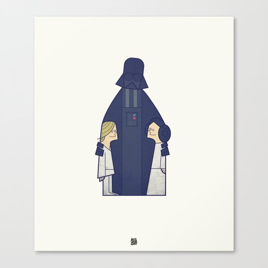 May the Love be with you Canvas Print
