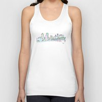 portland Tank Tops featuring Portland by Ursula Rodgers