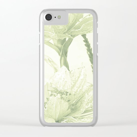 Glass flowers Clear iPhone Case