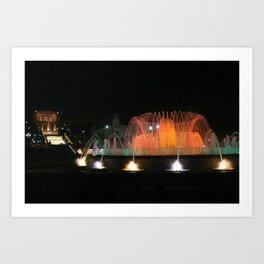 Barcelona Fountain Art Print
