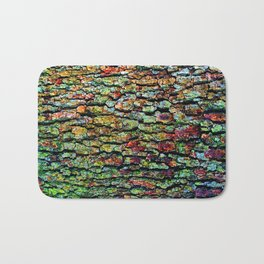 Anatural Abstraction of Tree Bark Bath Mat