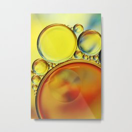 Abstract Oil Drops IV Metal Print
