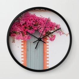 Summer Door Wall Clock