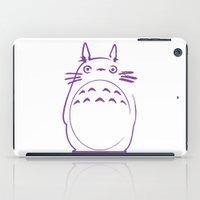 hayao miyazaki iPad Cases featuring STUDIO GHIBLI HAYAO MIYAZAKI - MY NEIGHBOR TO TO RO by The Fugu Project